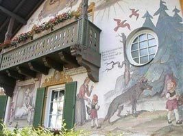 Mural on house in Oberammergau Germany